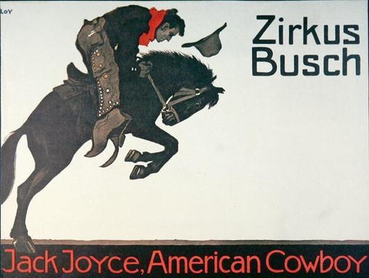 Circus poster of Jack Joyce, 1905
