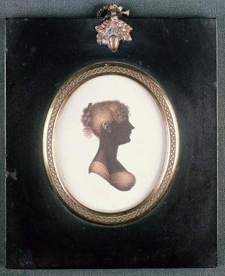 Silhouette of Cassandra Austen, c.1809