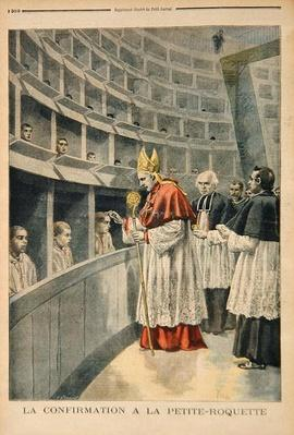 Religious confirmation in the prison of La Petite Roquette, from 'Le Petit Journal', 1st November 1896