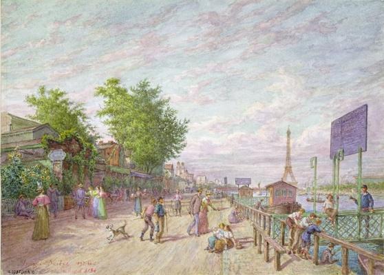 Quai du Point du Jour, Boulogne Billancourt, 1897