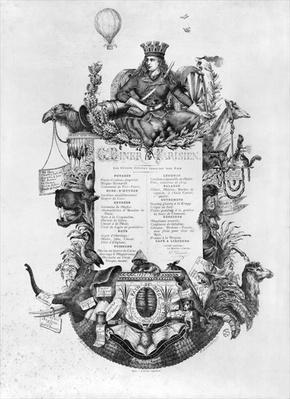 Grand Diner Parisien, menu displayed during the Siege of Paris, 1870-71