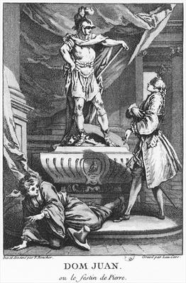 Don Juan and the Commendatore, illustration from 'Don Juan, or Le Festin de Pierre' by Jean-Baptiste Poquelin