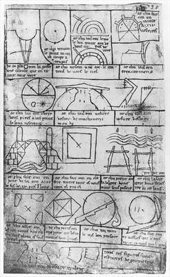 Facsimile copy of Ms Fr 19023 fol.20 Geometrical figures for the construction of buildings