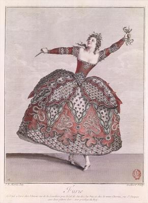 Costume design for a Fury in 'Hippolyte et Aricie' by Jean-Philippe Rameau