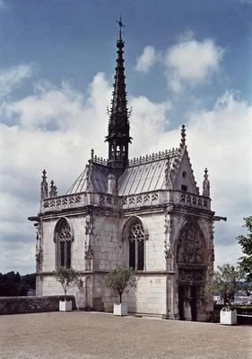 View of the Chapelle Saint-Hubert of the Chateau Amboise, finished in 1493