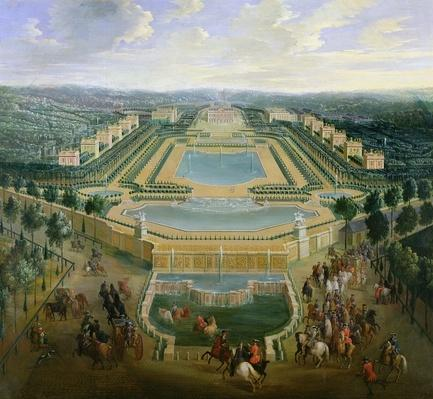 General view of the Chateau and the Pavilions at Marly, 1722