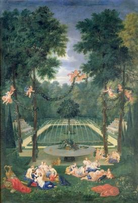 Groves of Versailles, view of the Marais with Venus and Echo, 1688