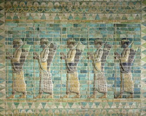 Frieze of archers, from the Palace of Darius the Great
