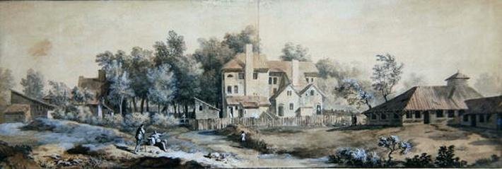 Landscape with Buildings: possibly at Richmond, Surrey