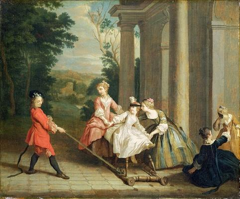 Children Playing with a Hobby Horse, c.1741-47