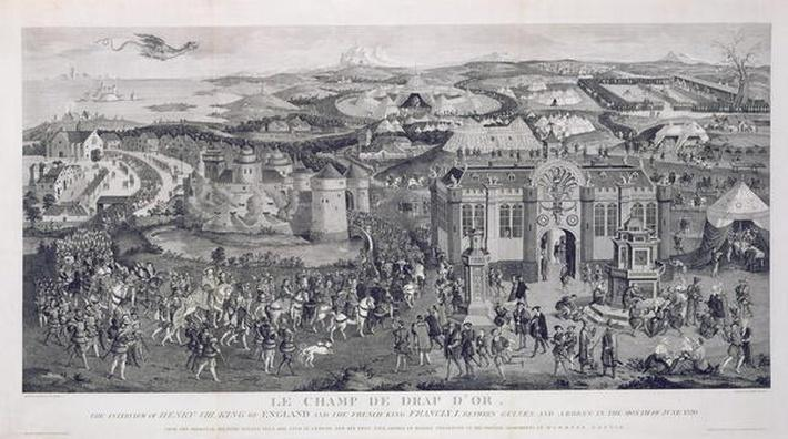Le Champ de Drap d'Or, engraved by James Basire