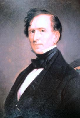 Franklin Pierce (1804-69) (colour litho) by American School, (19th century)