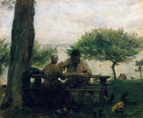 The Meal at Honfleur, 1875