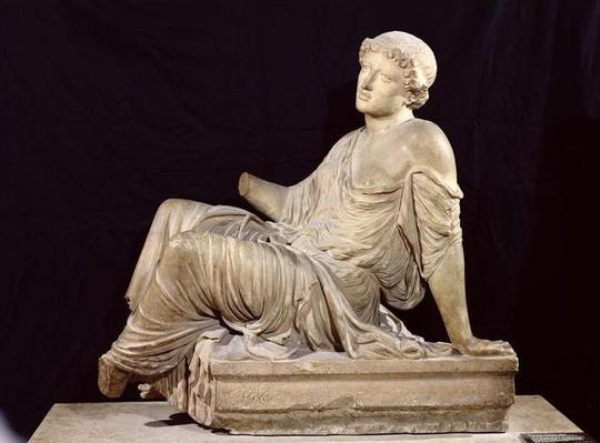 Woman seated on a altar, 'The Supplicant Barberini', c.440-430 BC