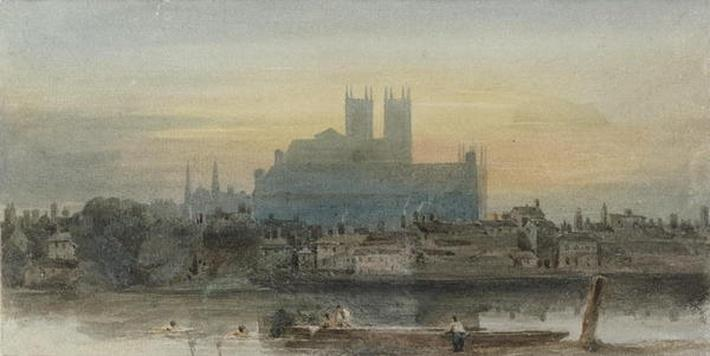 Westminster from Lambeth, c.1813