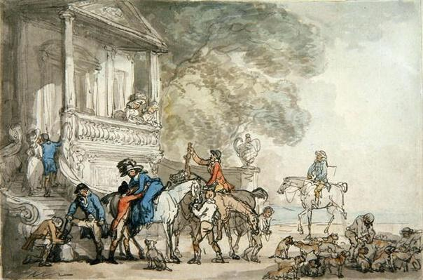 The Return from the Hunt, 1787