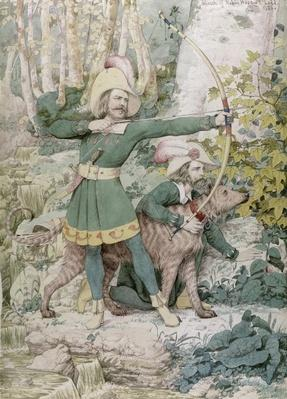 Sketch of Robin Hood, 1852