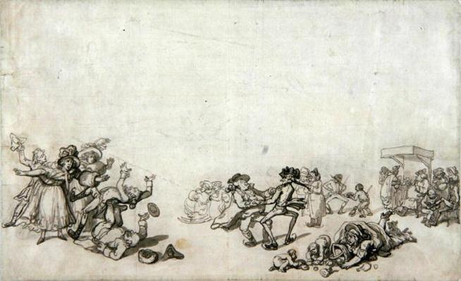 Study of Skaters: Skating on the Serpentine, 1760-90
