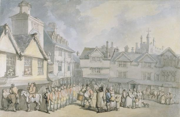 A Review in a Market Place, c.1790