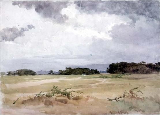 A field with groups of trees, 19th century;