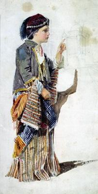 Figure of a girl in Turkish costume, 19th century