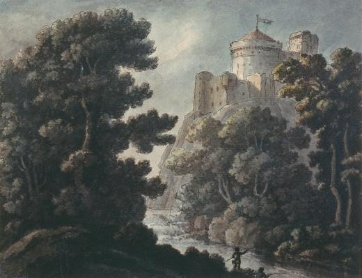 Landscape with castle on a rock