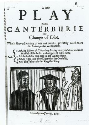 A New Play called Canterburie, 1641