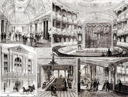 The Empire Theatre, Leicester Square, London 1884