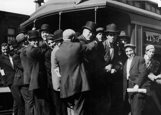 Third Avenue El Train Riders | The Gilded Age (1870-1910) | U.S. History