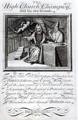 The High Church Champion and his two Seconds, 1709