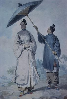 Chinese lady with attendant