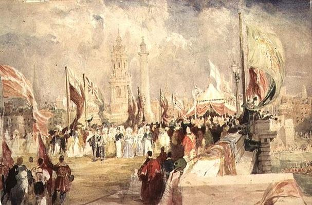 The Opening of London Bridge by King William IV and Queen Adelaide on 1 August, 1831