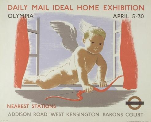 Poster for the Daily Mail Ideal Home Exhibition at Kensington Olympia, London, 1938