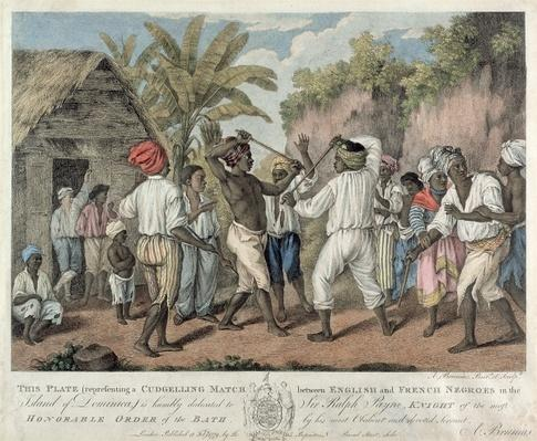 A Cudgelling Match between English and French Negroes on the Island of Dominica, 1779