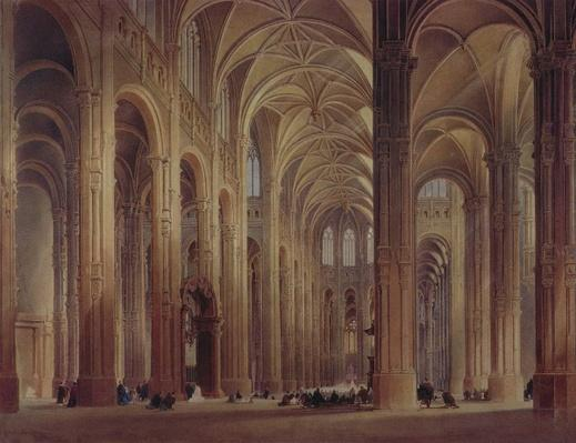 The Interior of St. Eustache, Paris, 19th century