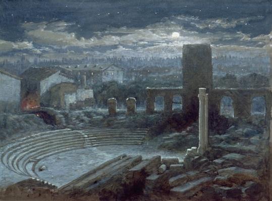 The Roman Theatre, Arles, Moonlight