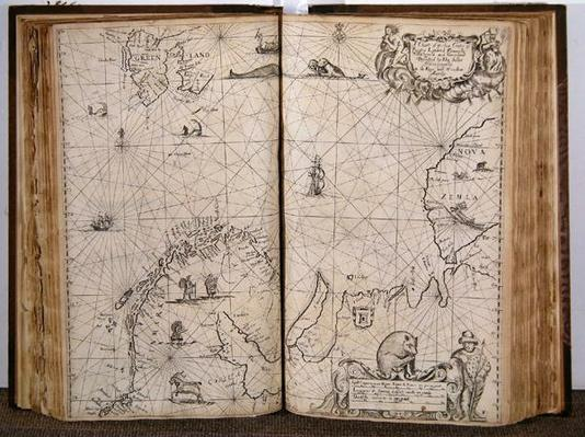 A Chart of the Sea Coasts of Russia, Lapland, Finmarke, Nova Zemla and Greenland, 1671