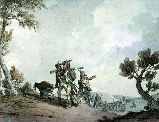 French Soldiers on the March
