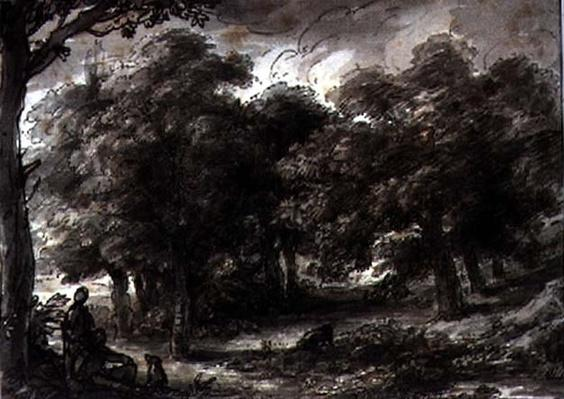 Wooded Landscape, with Figures