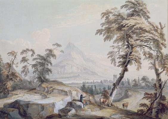 Italianate Landscape with Travellers, no.1