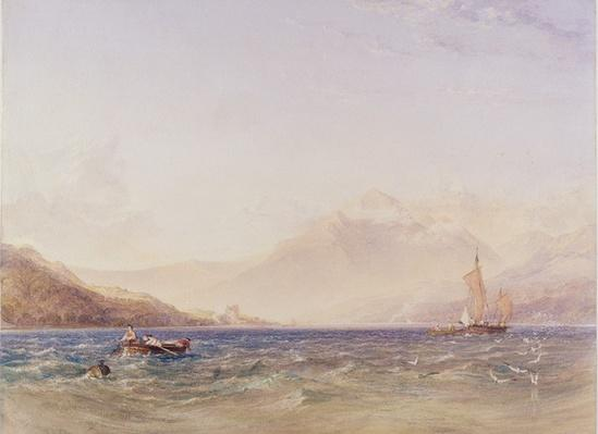 The Head of Loch Fyne, with Dindarra Castle, 1850