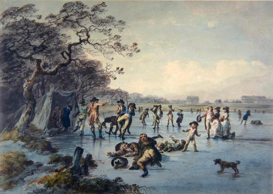 Skating in Hyde Park, c.1785