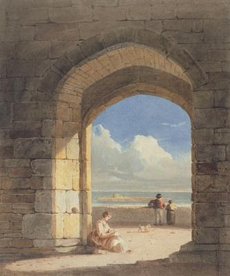 An Arch at Holy Island, Northumberland, 1809