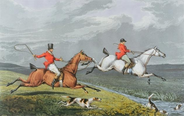 Fox Hunting: Full Cry, 1828