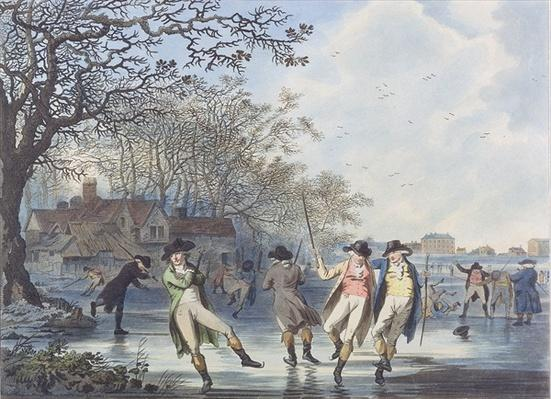 Winter Amusement: A View in Hyde Park from the Moated House, 1787