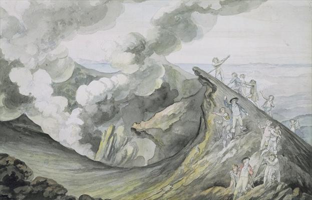 The Ascent of Vesuvius, 1785-91