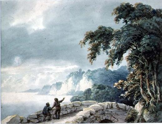 Landscape with Trees, Bridge and Figures