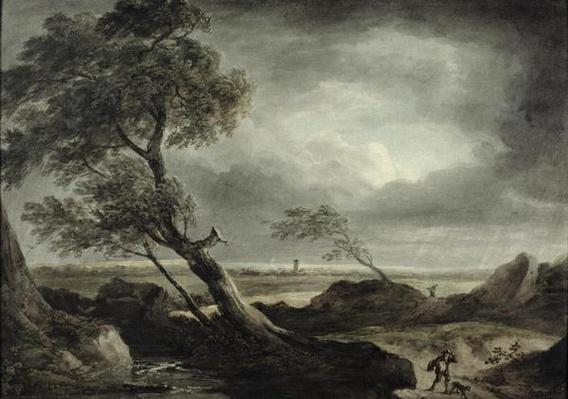 Landscape with Village: Stormy Effect