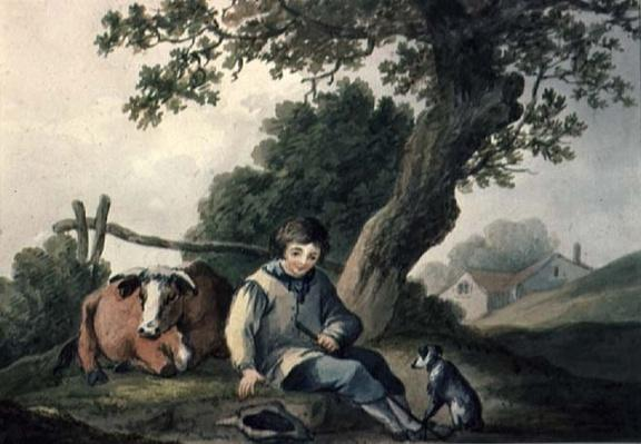Landscape with Cow and Boy