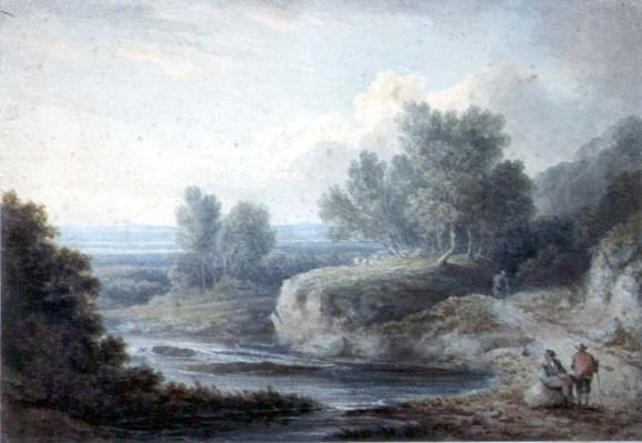 River Scene with Figures